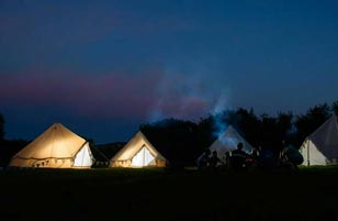 Bourne Under the Stars Glamping in Bournemouth