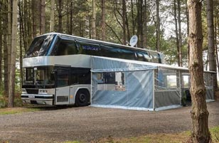Luxury Glamping Bus in York